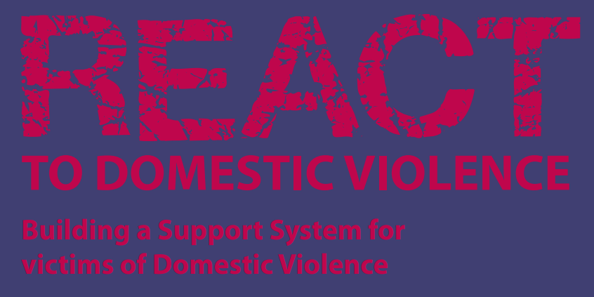 REACT domestic violence logo